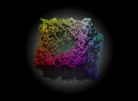 Heterogeneous -tridimensional anti-gaussian field- random non linear meshing of a cube