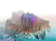 Artistic view of a quadridimensional Calabi-Yau manifold