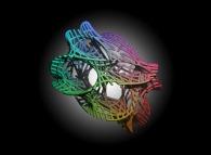 Tridimensional representation of a quadridimensional Calabi-Yau manifold