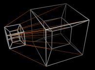 A distorded -for the sake of display- 5-cube -an hyperhypercube-