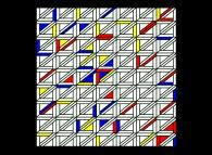 Maurits Cornelis Escher meets Piet Mondrian