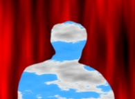 Fractal Self-Portrait -'Décalcomanie', a tribute to René Magritte-