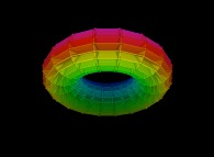 Regular quadrangulation of the volume of a torus -18x18x18-
