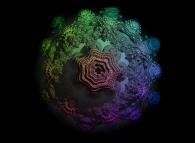 A pseudo-octonionic Mandelbrot set (a 'MandelBulb')-tridimensional cross-section-