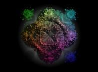 A pseudo-octonionic Mandelbrot set (a 'MandelBulb')-tridimensional cross-section-