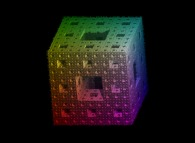 Impressionist view of the Menger sponge -iteration 5-