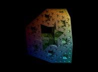 An interesting cross-section inside the Menger sponge -iteration 4-