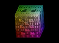 A parallelepipedic extended Menger sponge -iteration 5-