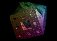 A twisted Menger sponge -iteration 5-