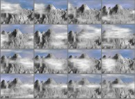 Mountains and light cloud dynamics -this sequence being periodical-