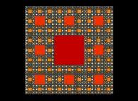 The Sierpinski carpet -iteration 5-