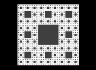 The Sierpinski carpet -iteration 5-