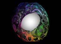 A tridimensional intertwining inside a torus