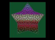 Tridimensional visualization of a pseudo-periodical Penrose tiling of the Golden Decagon