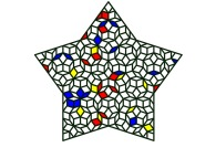 A pseudo-periodical Penrose tiling of the Golden Decagon -a tribute to Piet Mondrian and Roger Penrose-