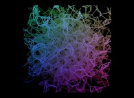Heterogeneous -tridimensional gaussian field- random meshing of a cube