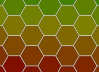 A tiling using hexagons