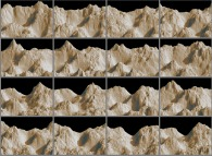 Earthquake with multifractal mountains