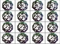 A set of 4x3 stereograms of a fractal polyhedron