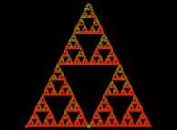 A bidimensional Sierpinski 'carpet' computed by means of an 'Iterated Function System' -IFS-
