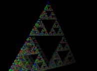 A pyramidal Menger sponge computed by means of an 'Iterated Function System' -IFS-
