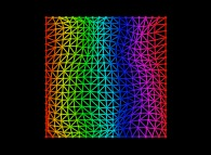 Double random triangulation of a square -18x18-