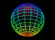 Regular quadrangulation of the surface of a sphere -18x18-