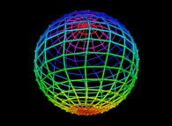 Random quadrangulation of the surface of a sphere -18x18-