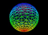Simple random triangulation of the surface of a sphere -18x18-