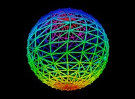 Double random triangulation of the surface of a sphere -18x18-