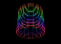 Regular quadrangulation of the surface of a cylinder -18x18-