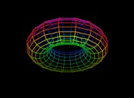 Regular quadrangulation of the surface of a torus -18x18-