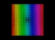 Periodical quadrangulation of a cube -18x18x18-