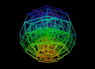Random quadrangulation of the volume of a sphere -8x8x8-