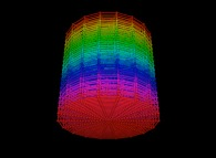 Random quadrangulation of the volume of a cylinder -18x18x18-