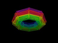 Random quadrangulation of the volume of a torus -8x8x8-