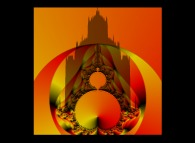 Tridimensional visualization of the Mandelbrot set with mapping of the arguments -the Mont Saint Michel-