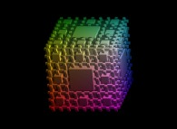 The complement of the Menger sponge -iteration 3-