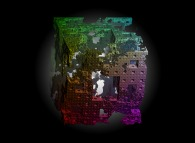 The erosion of the Menger sponge -iteration 4-