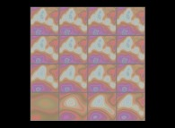 Wavelet reconstruction of a bidimensional fractal field using the 16 first dilatations