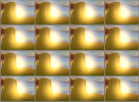 A set of 4x3 stereograms of a few Monument Valleys at sunset