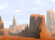 Monument Valley brumeuse