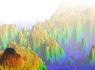 Multifractal mountains (side view)