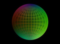 A sphere defined by means of three bidimensional fields