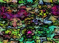 Bidimensional abstract texture with random anthropomorphic patterns