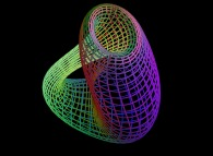 The Klein bottle defined by means of three bidimensional fields