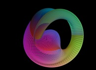 A gaussian mixing of a sphere and of the Möbius strip defined by means of three bidimensional fields