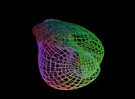 A surface between the Bonan-Jeener's triple Klein bottle and a 'double sphere' defined by means of three bidimensional fields
