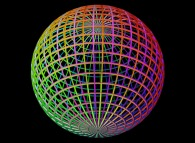 A 'double sphere' defined by means of three bidimensional fields
