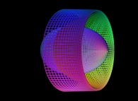 A linear mixing of a sphere and of a torus defined by means of three bidimensional fields